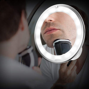 New Style LED Amplifier Makeup Mirror 5X10X Gooseneck Sucker Bathroom Mirror MY Flexible Mirror