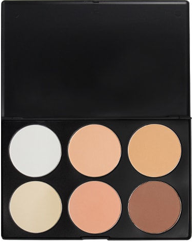 6 Color Contour Palette Powder Base - beautyfull