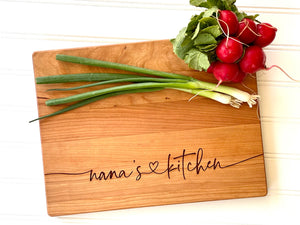 Nana's Kitchen, Personalized Cutting Board for Mother's Day Gift