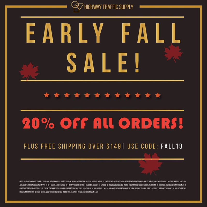 20% OFF ANY ORDER WITH CODE FALL18