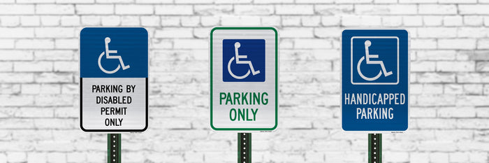 ADA Compliant Handicapped Accessible Parking Signs | Business or Residential Use | Rust-Free Aluminum | Made in USA