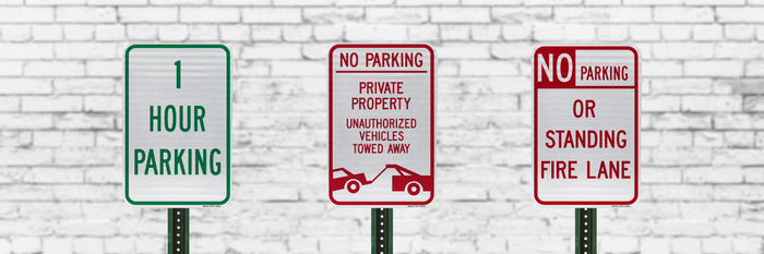 Parking Signs | Business or Residential Use | Rust-Free Aluminum | Made in USA