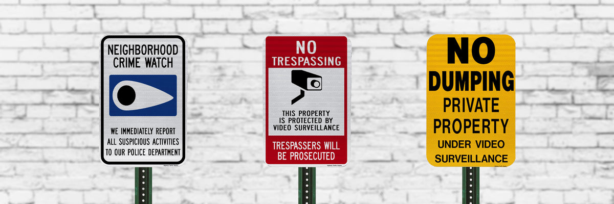 Security and Surveillance Signs | Business or Residential Use | Rust-Free Aluminum | Made in USA