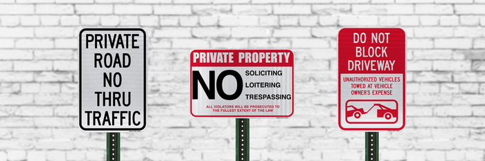 Private Property Signs | Business or Residential Use | Rust-Free Aluminum | Made in USA