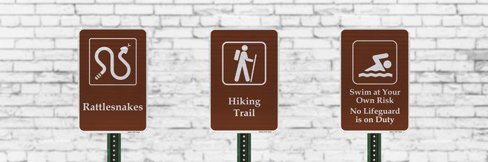 Campground and Trail Signs | Municipal or Residential Use | Rust-Free Aluminum | Made in USA