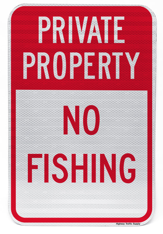 Private Property No Fishing Sign