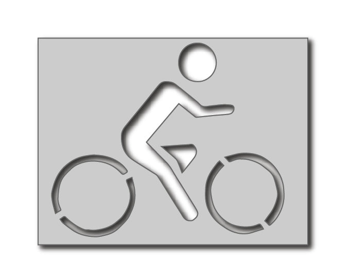 Cycling Awareness Symbol Stencil
