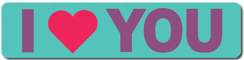 I Love You Sign (Teal and Purple) Sign