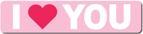 I Love You Sign (Red and Pink) Sign