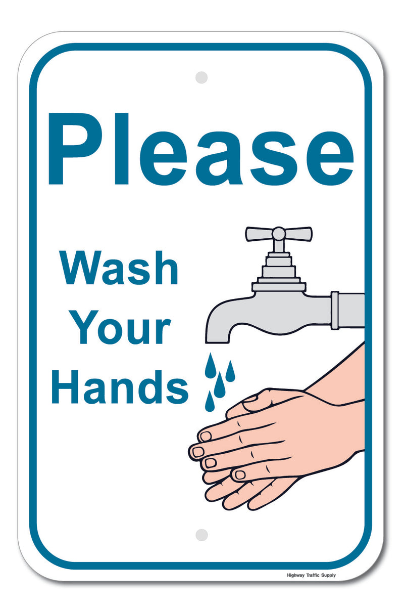 Please Wash Your Hands II Sign