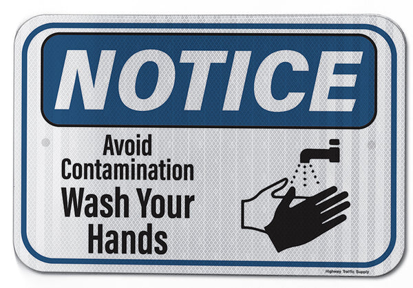 Notice Avoid Contamination... Sign