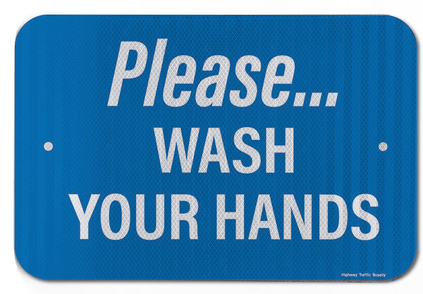 Please Wash Your Hands V Sign