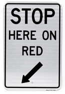 R10-6 Stop Here on Red Sign