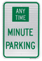 Custom Minute Parking Sign