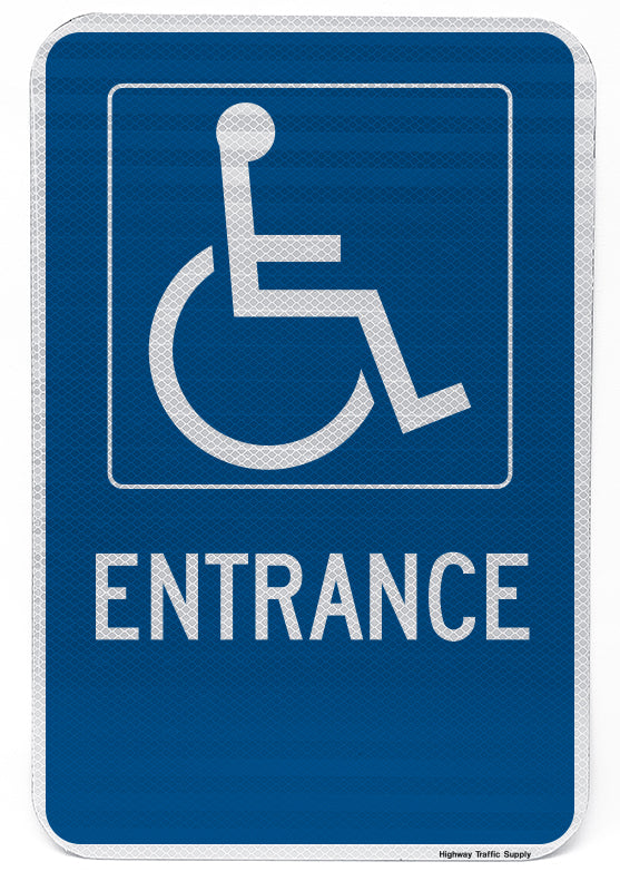 Handicapped Entrance Sign