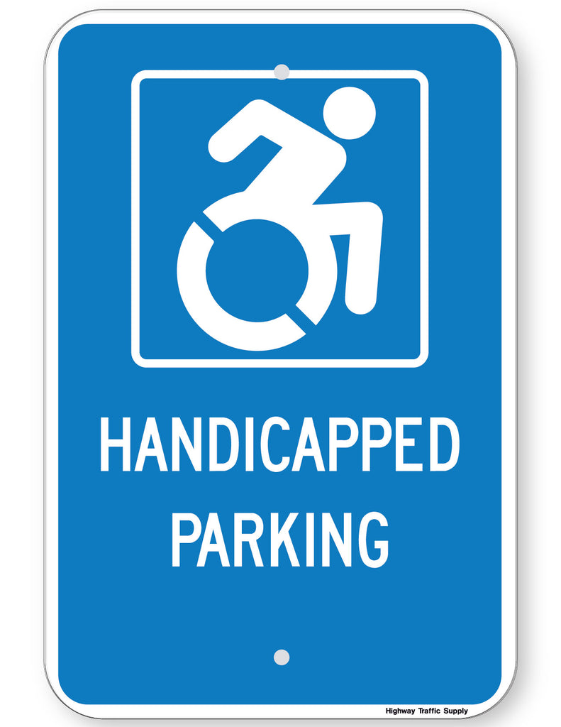 Handicapped Parking Sign (New York State Accessible Icon)