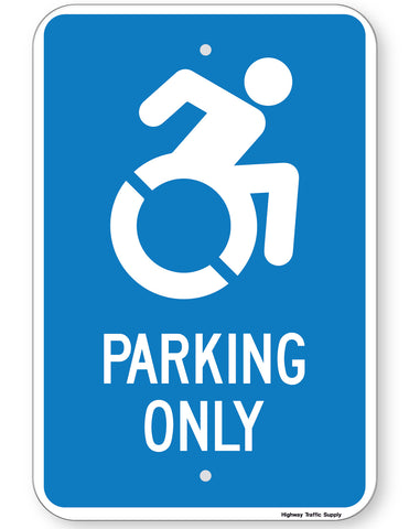 Handicapped Parking Only Sign (New York State Accessible Icon)