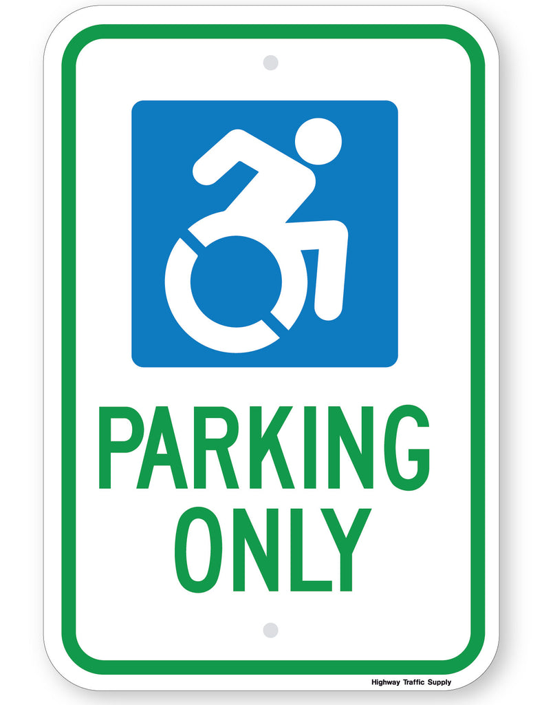Handicapped Symbol Parking Only Sign (New York State Accessible Icon)