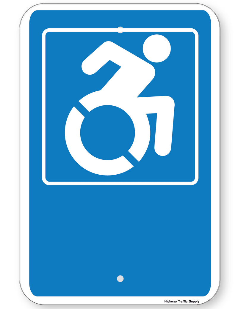 Handicapped Symbol Sign (New York State Accessible Icon)