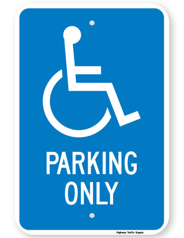 Handicapped Parking Only Sign