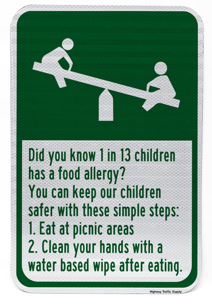 Playground Allergy Sign