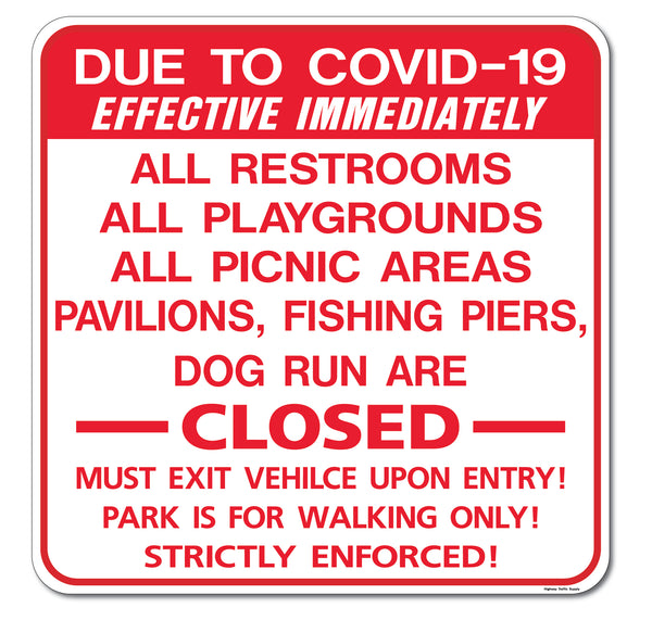Due To Covid-19... Sign
