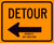 Detour Arrow Sign
