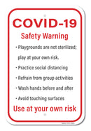 COVID-19 Safety Warning Sign