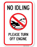 No Idling Please Turn Off Engine Sign