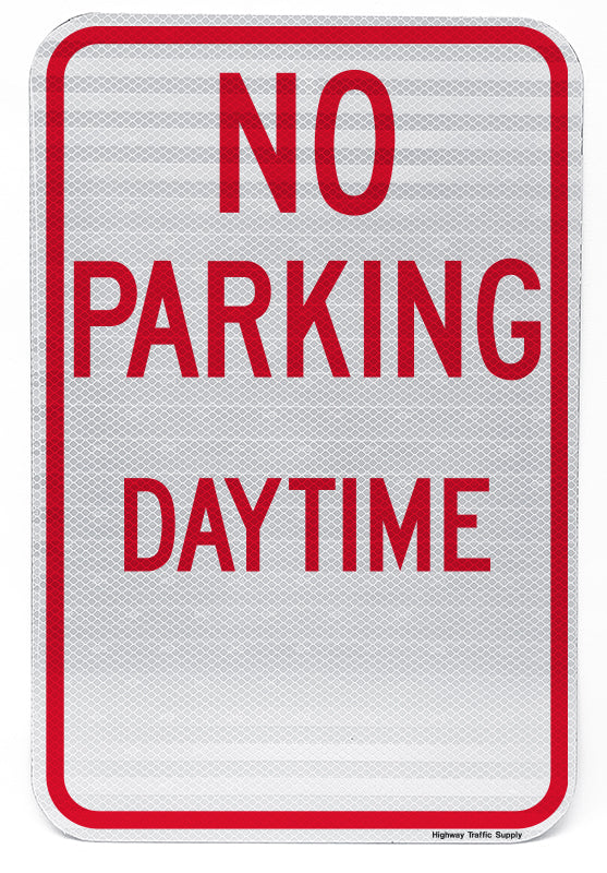 No Parking Daytime Sign