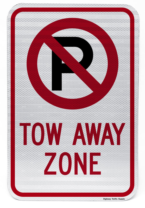 No Parking Symbol Tow Away Zone Sign