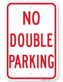NO DOUBLE PARKING SIGN