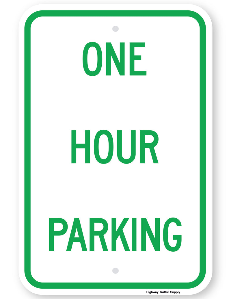 One Hour Parking Sign