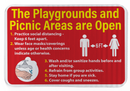 Playgrounds and Picnic Areas Are Open Sign