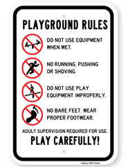Playground Rules Play Carefully