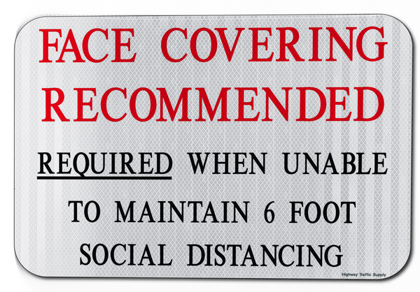 Face Covering Recommended Sign