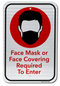 Face Mask or Face Covering Required... Sign