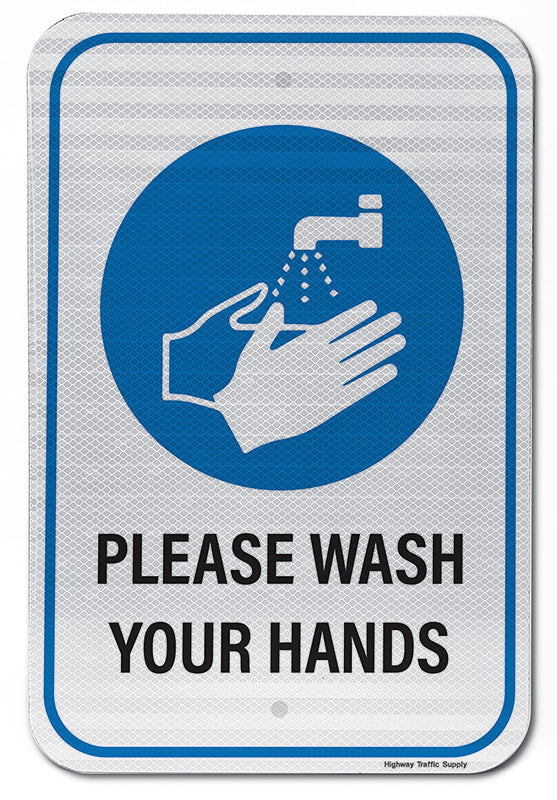 Please Wash Your Hands IV Sign
