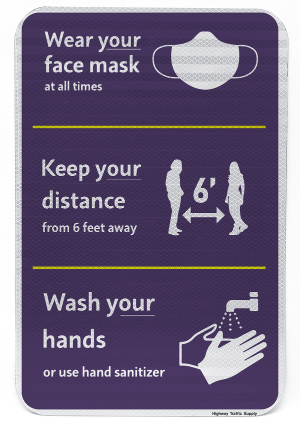 Wear Your Face Mask Sign