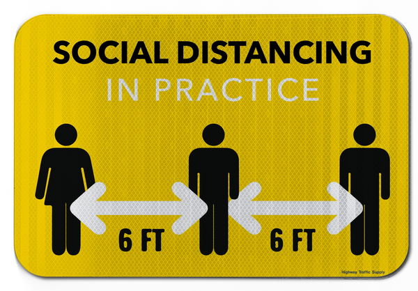 Social Distancing In Practice Sign