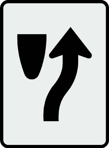 Keep Right Symbol Sign
