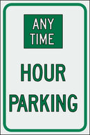 Custom Hour Parking Sign