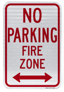 No Parking Fire Zone Sign (with double arrow)