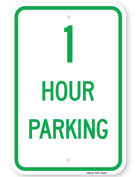 1 Hour Parking Sign