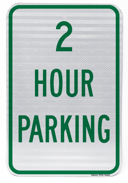 2 Hour Parking Sign