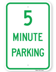 5 Minute Parking Sign
