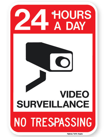 24 Hours A Day Neighborhood Watch Sign