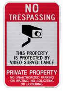 No Trespassing This Property Is Protected... Private Property Sign