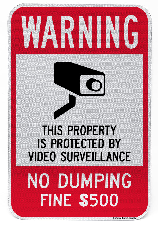 Warning No Dumping $500 Fine Sign