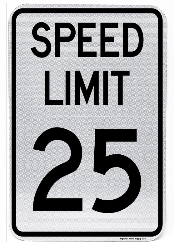 R2-1 Speed Limit Sign (25)